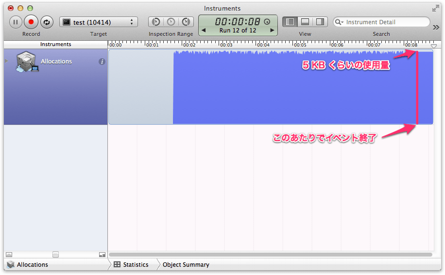 autorelease_pool なし