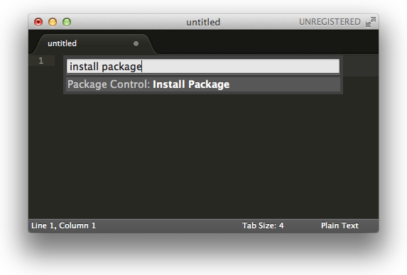 install package dialog